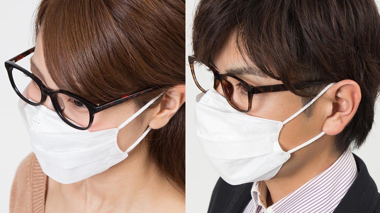 めがねの人向けマスクが登場! Ease Mask ZEROは、もうめがねを曇らせない
